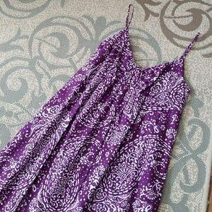 Purple Print Maxi Dress
